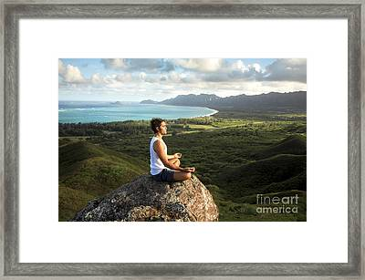 Peace On A Hillside Framed Print by Brandon Tabiolo - Printscapes