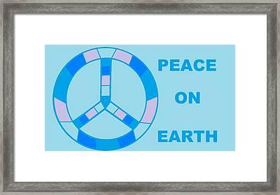 Peace On Earth 3 Framed Print