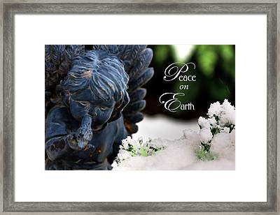 Framed Print featuring the photograph Peace On Earth Angel by Shelley Neff