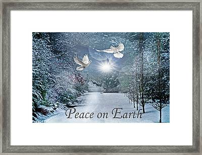Peace On Earth At Christmastime Framed Print
