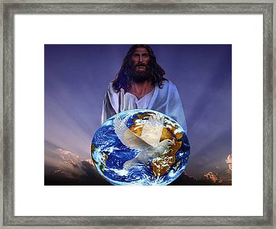 Peace On Earth Framed Print by Evelyn Patrick