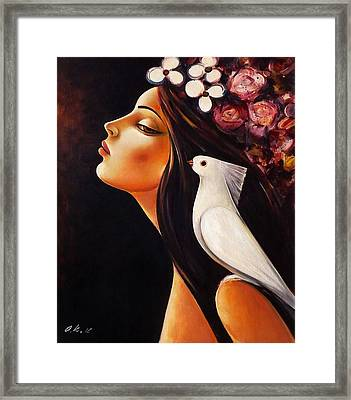Peace On My Shoulder Framed Print by Ognian Kouzmanov