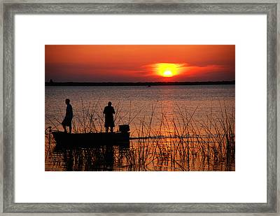 Peace Over The Water Framed Print by Susanne Van Hulst