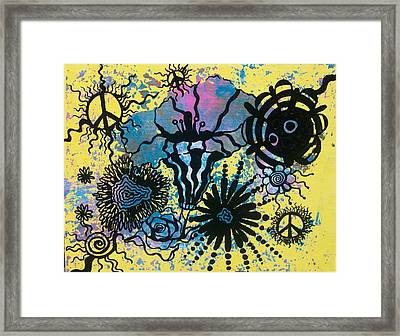 Peace Pole Framed Print by Tara Shuey