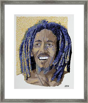 Peace Portrait One Bob Marley Framed Print by Barbara Lugge