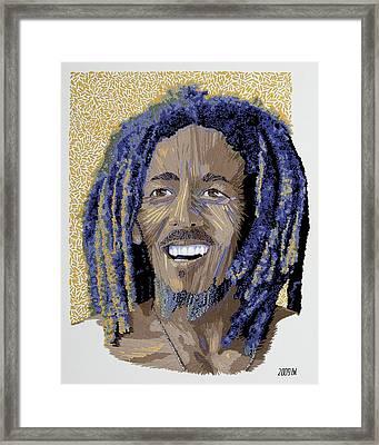 Peace Portrait One Bob Marley Framed Print by Barbara Lugge