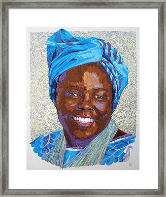 Peace Portrait Three Wangari Maathai Framed Print
