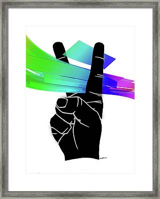Peace Ribbons Framed Print by Anthony Caruso