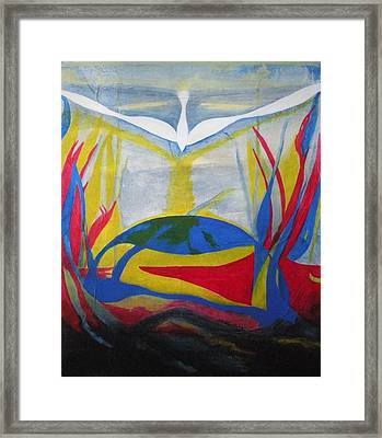 Peace Rising From Chaos Framed Print by CB Woodling