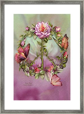 Peace Rose Framed Print
