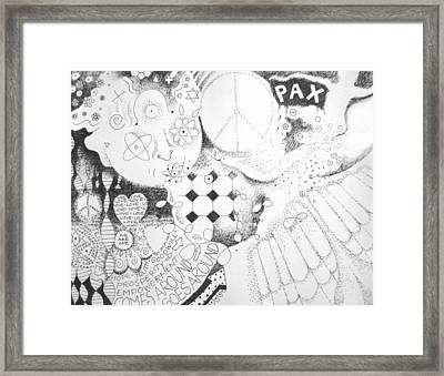 Peace Rules Framed Print by Helena Tiainen