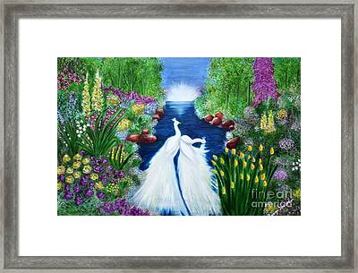 Framed Print featuring the painting Peace by Saranya Haridasan