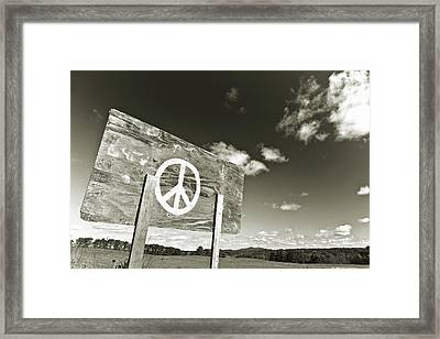 Peace Sepia Framed Print