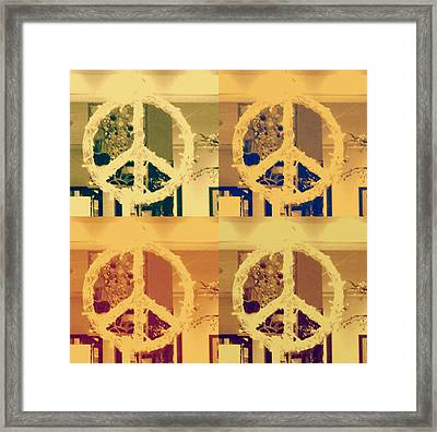 Peace Framed Print by Sherry Dee Flaker