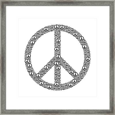 Peace Sign Framed Print by Peter Hermes Furian