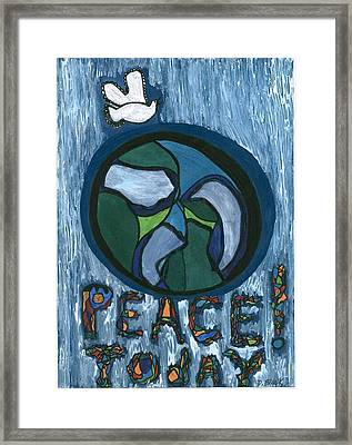 Peace Today Framed Print