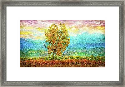 Peace Tree Sunset Framed Print by Joel Bruce Wallach