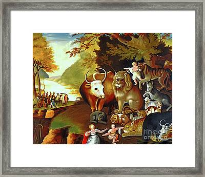 Peaceable Kingdom By Edward Hicks 20170409 Framed Print by Wingsdomain Art and Photography
