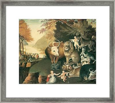 Peaceable Kingdom Framed Print by Edward Hicks