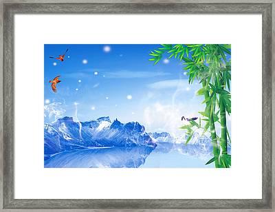 Peaceful 2 Framed Print by An hy Quach hong