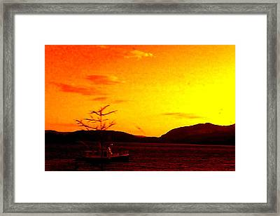 Peaceful Framed Print by Allison Prior