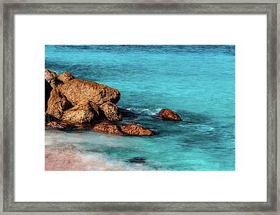 Peaceful Beach Framed Print