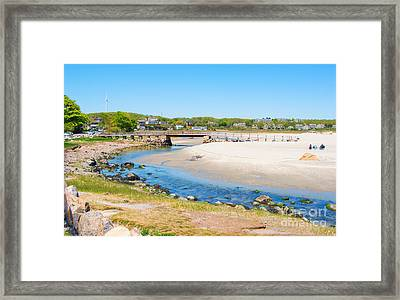 Peaceful Beach Framed Print