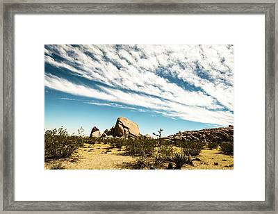 Peaceful Boulder Framed Print