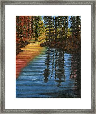 Peaceful Brook Framed Print by Tanna Lee M Wells