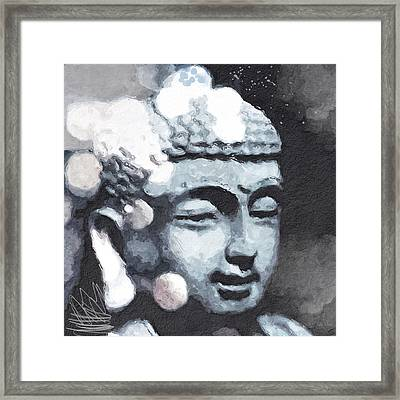 Peaceful Buddha 3- Art By Linda Woods Framed Print