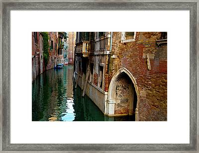 Framed Print featuring the photograph Peaceful Canal by Harry Spitz