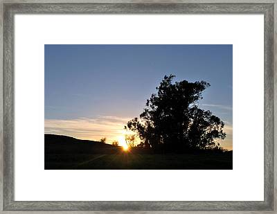 Framed Print featuring the photograph Peaceful Country Sunset  by Matt Harang