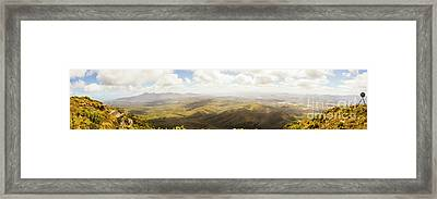 Peaceful Countryside Panorama Framed Print