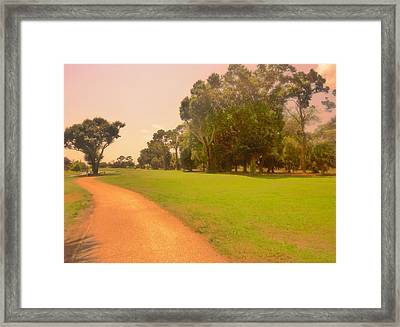 Peaceful Course Framed Print by Florene Welebny