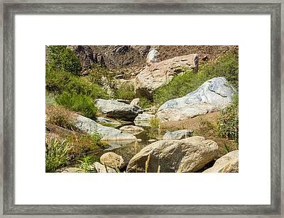 Peaceful Creek Framed Print by Kelley King