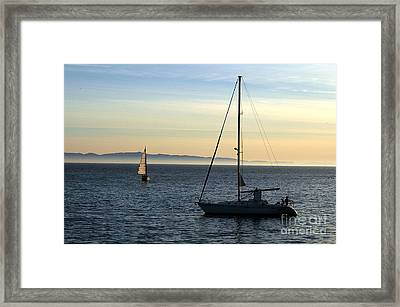 Peaceful Day In Santa Barbara Framed Print