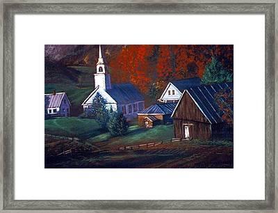 Peaceful Dwellings Framed Print by Tommy  Winn