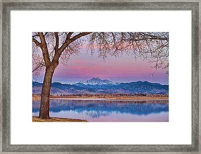 Peaceful Early Morning First Light Longs Peak View Framed Print by James BO  Insogna