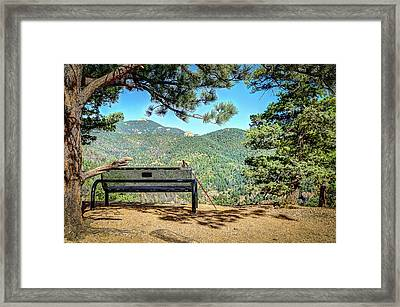 Peaceful Encounter Framed Print