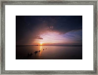 Peaceful End Framed Print