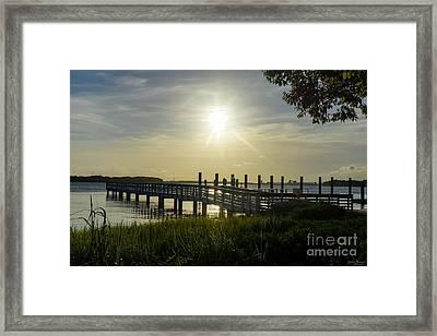 Peaceful Evening At Cooper River Framed Print by Jennifer White