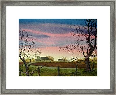 Peaceful Evening Framed Print by Faye Ziegler