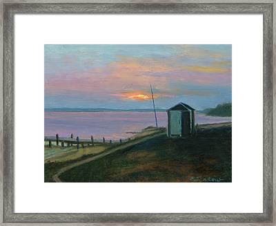 Peaceful Evening Shelter Island Framed Print