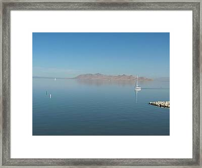 Peaceful Existence Framed Print by Janet  Hall