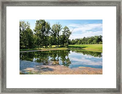 Peaceful Farm Pond  Framed Print
