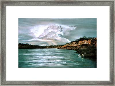 Peaceful Fishing Framed Print