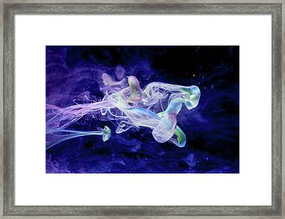 Peaceful Flow - Fine Art Photography - Paint Pouring Framed Print by Modern Art Prints