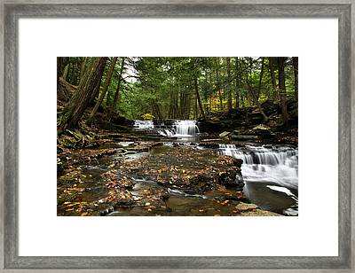 Peaceful Flowing Falls Framed Print