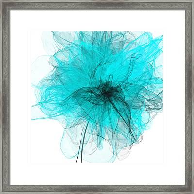 Peaceful Glow - Aquamarine Art Framed Print by Lourry Legarde