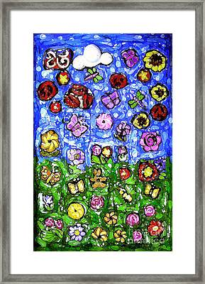 Peaceful Glowing Garden Framed Print